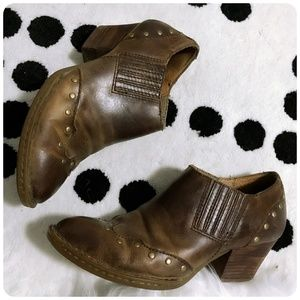 Born Tour Ankle Booties with studs,Size 7